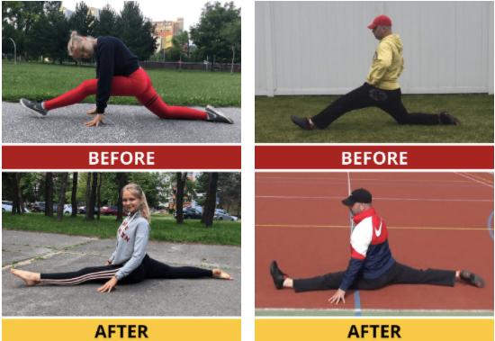 Hyperbolic stretching exercises
