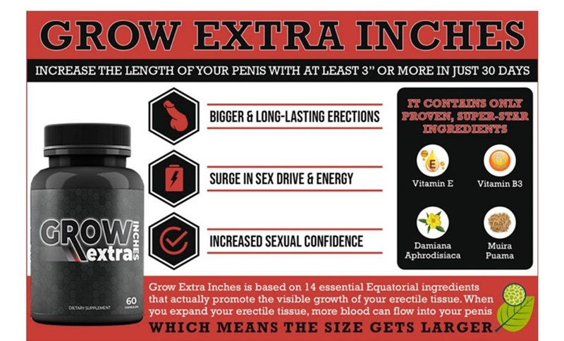 Grow Extra Inches Ingredients Clinically Tested