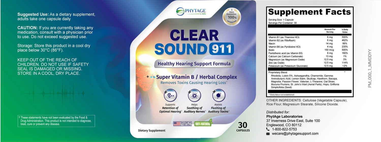 Clear Sound 911 Supplement