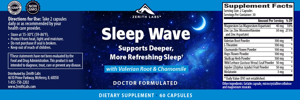 Zenith Labs Sleep Wave Ingredients
