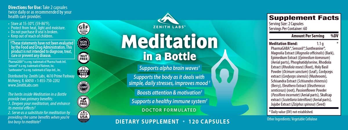 Meditation in a Bottle Ingredients